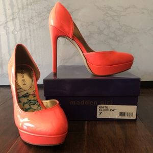 Coral Platfrom Heels Size 7
